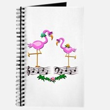 Dancing Pink Flamingos - Journal