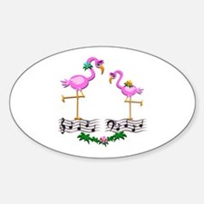 Dancing Pink Flamingos - Decal