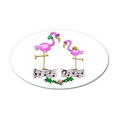 Dancing Pink Flamingos - Wall Decal