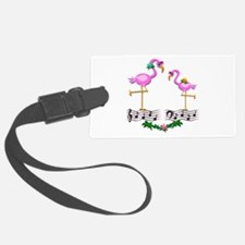 Dancing Pink Flamingos - Luggage Tag