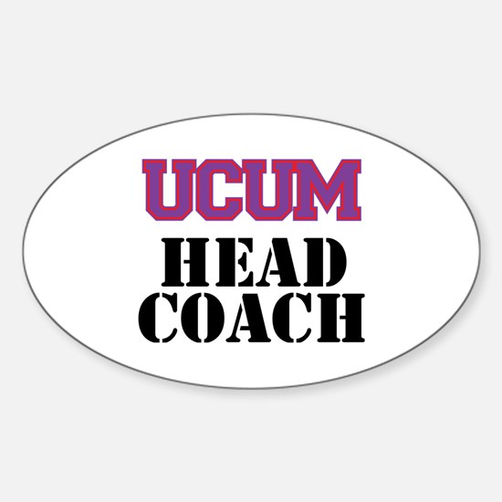 UCUM Head Coach Sticker (Oval)