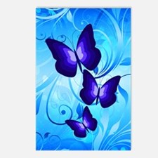 Butterflies on Blue Postcards (Package of 8)