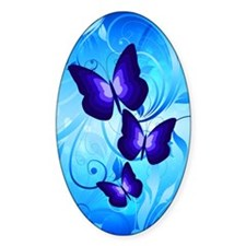 Butterflies on Blue Decal