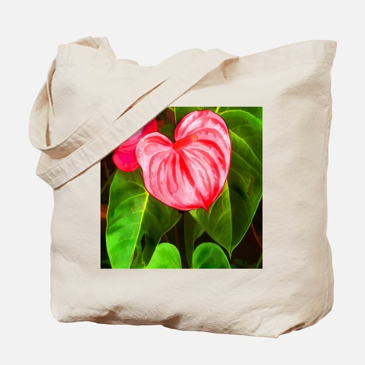 Cute Tropical flowers Tote Bag