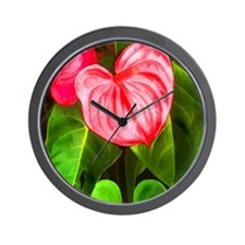 Cute Plant Wall Clock