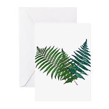 Tropical Fern Trio Greeting Cards