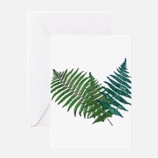 Tropical Fern Trio Greeting Cards