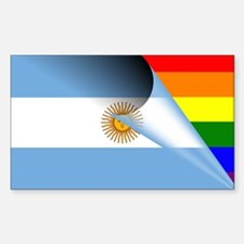 Argentina Gay Pride Rainbow Flag Decal