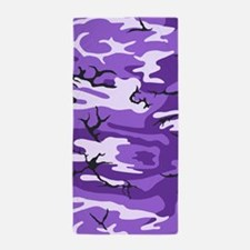 Purple Camouflage Beach Towel