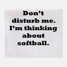 Thinking About Softball Throw Blanket