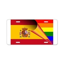 Spain Gay Pride Rainbow Flag Aluminum License Plat