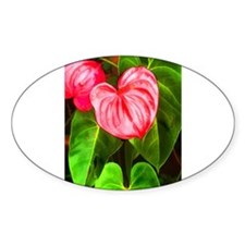 Tropical Red Anthurium Plant Decal