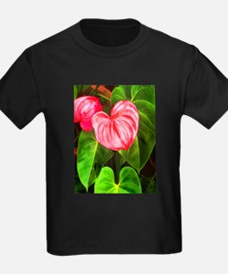 Tropical Red Anthurium Plant T-Shirt