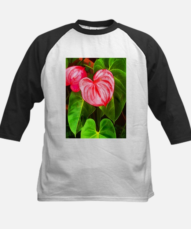 Tropical Red Anthurium Plant Baseball Jersey
