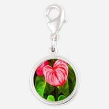Tropical Red Anthurium Plant Charms