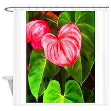 Unique Botanical, sepia Shower Curtain
