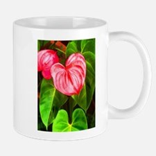 Tropical Red Anthurium Plant Mugs