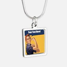 CUSTOM TEXT Vintage Rosie Necklaces