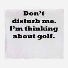 Thinking About Golf Throw Blanket
