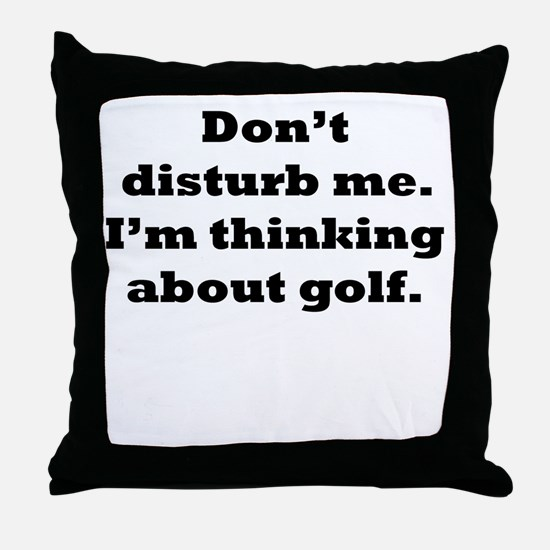 Thinking About Golf Throw Pillow