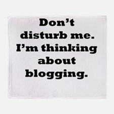 Thinking About Blogging Throw Blanket