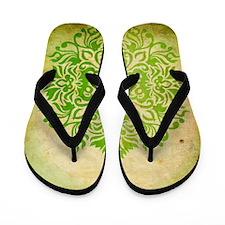 Exotic Green Jade Flip Flops