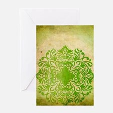 Exotic Green Jade Greeting Cards