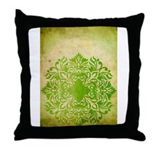 Exotic Green Jade Throw Pillow