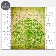 Exotic Green Jade Puzzle