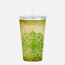 Exotic Green Jade Acrylic Double-wall Tumbler