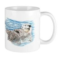 Cute Watercolor Otter Relaxing or Chill Mug