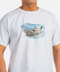 Cute Watercolor Otter Relaxing or Ch T-Shirt