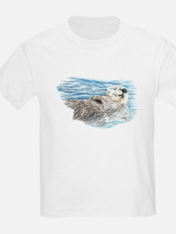 Cute Watercolor Otter Relaxing T-Shirt