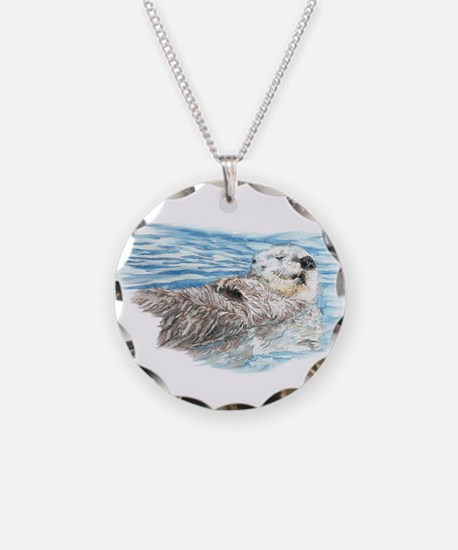 Cute Watercolor Otter Relaxi Necklace