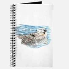 Cute Watercolor Otter Relaxing or Chilling Journal