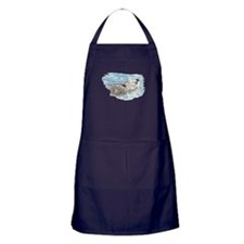 Cute Watercolor Otter Relaxing or Chi Apron (dark)