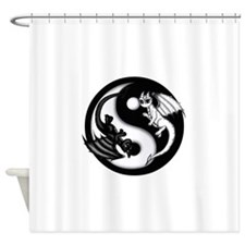 Yin Yang Dragons Shower Curtain