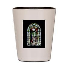 Saint Anatole Stain Glass Shot Glass