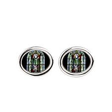 Saint Anatole Stain Glass Oval Cufflinks