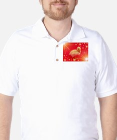 cute duck in red with small shining stars T-Shirt