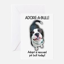 Adore-A-Bull! Pit Bull Greeting Cards (Pkg of 10)
