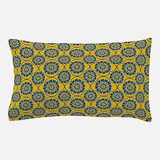 Decorative Blue Damask Pillow Case