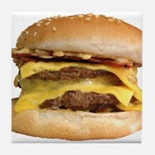 Stacked Burger Tile Coaster
