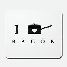 I Heart Cook Bacon Mousepad