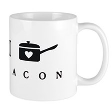 I Heart Cook Bacon Mugs
