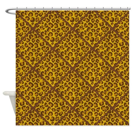 animal print harlequin shower curtain by quiltshop