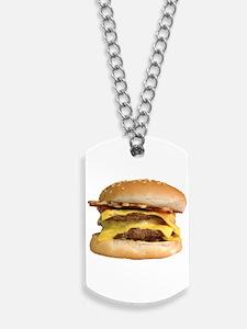 Stacked Burger Dog Tags