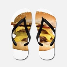 Stacked Burger Flip Flops