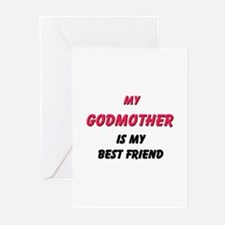 My GODMOTHER Is My Best Friend Greeting Cards (Pac