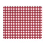 Gingham Checked Red Throw Blanket
